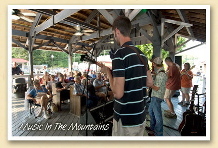 Reel Tyme performs at Bryson City\'s train depot