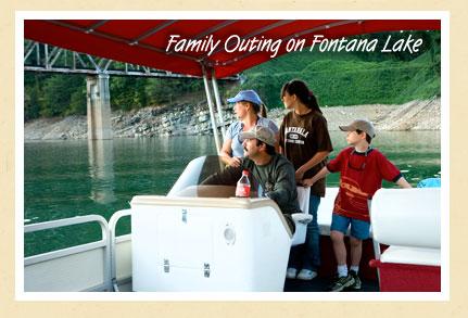Family outing on Fontana Lake