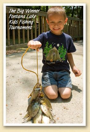 Gaige Jones (4) wins Fontana Kids Fishing Tourney