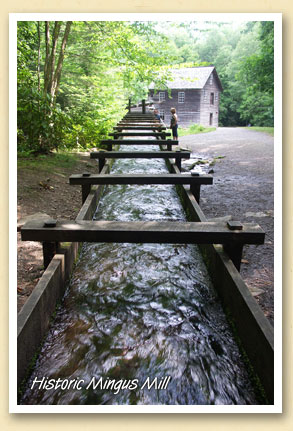 Mill Race at the historic Mingus Mill